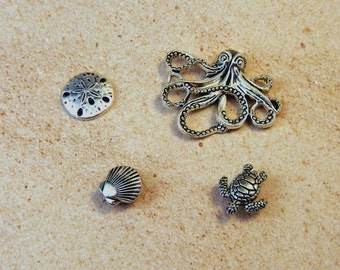 Seaside Needle Minders - Strong Neodymium Magnet - Octopus, Sea Turtle, Sand Dollar or Sea Shell