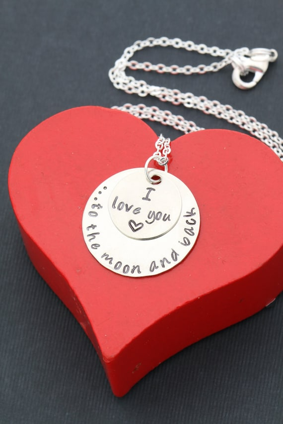 I Love You to the Moon and Back Necklace Love Quote Necklace