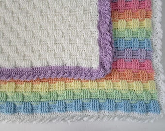 Basketweave Crochet Afghan Pattern, Easy Crochet Blanket Pattern, Basket Weave Stitch, Crochet Baby Blanket, Instructions to Make ANY size