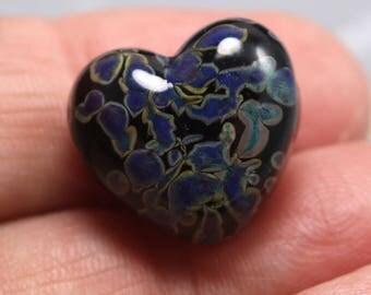 Purple leopard focal bead