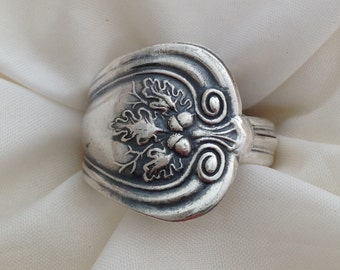 Spoon Ring Lakewood 1914 Autumn Choose Your Size  Vintage Silverplate Silverware Jewelry
