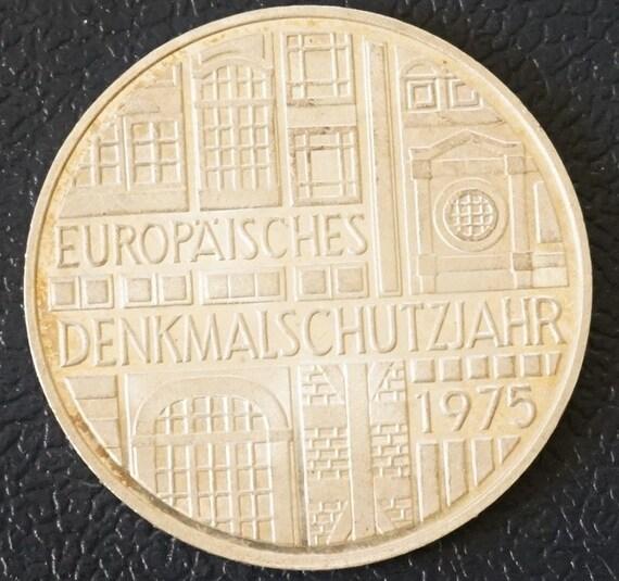 silver german 5 mark eagle coin 1975f deutsche mark. Black Bedroom Furniture Sets. Home Design Ideas