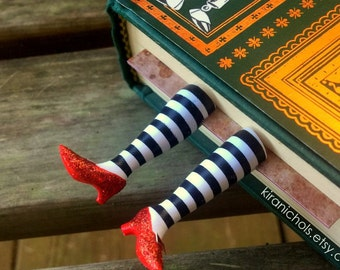 Wicked Witch Bookmark - Ruby Slippers Bookmark - Witch Legs Bookmark - Original Witch Bookmark