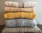 Vintage Sweaters . Mixed Cardigan Lot . 5 Pieces . Ready For Resale . Wholesale Clothing