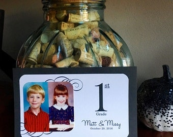School Days - Personalized Photo Table Numbers by School Year / Grade - Wedding Receptions / Showers / Parties - Custom Colors Available