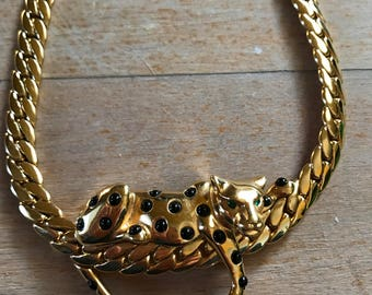 1980s Jaguar Necklace