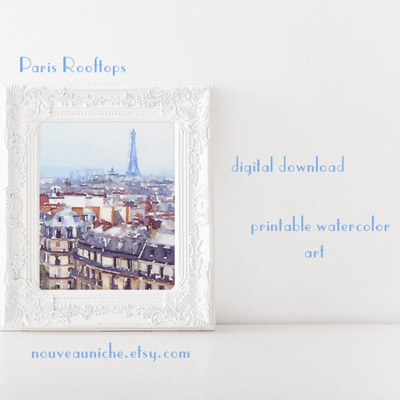 Eiffel tower art paris bedroom decor eiffel tower teen girl - Eiffel tower decor for bedroom ...