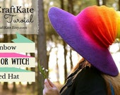 Witch or Wizard Felted Hat Tutorial