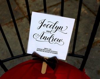 Wedding Fan Programs, Calligraphy Programs, Black and White Programs, Beach Fans, Ceremony Program - The Jocelyn Wedding Program Fan SAMPLE