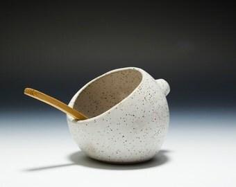 The BEST Handmade Stoneware Salt Pig / Salt Cellar / Salt Shaker 16-084