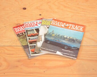 Vintage Set Of Four 1966 Road & Track, Classic Collector Car Magazines