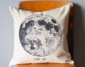 Throw Pillow - Throw Pillow Covers - Screen Printed - Moon Phase - Pillow Case - Home Decor - Kids Room - Decorative Pillows - Nursery