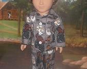 "Star Wars 2 pc pajamas fits 18"" American girl or boy doll"