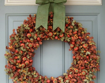 Fall Wreath -  Fall Berry Wreath