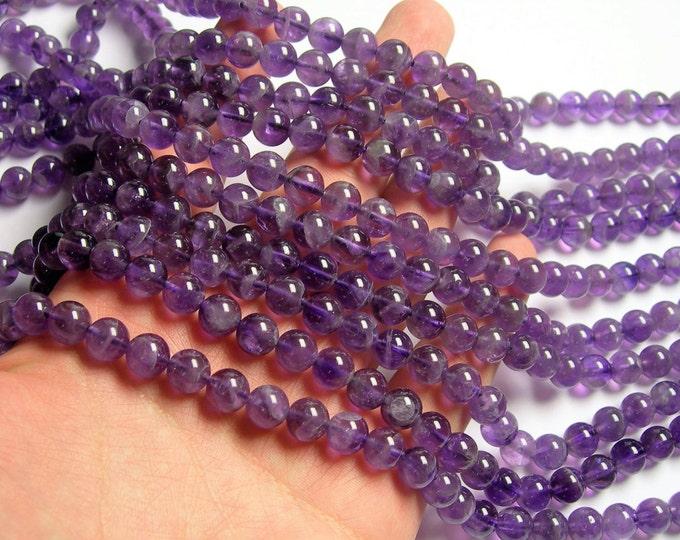 Amethyst - 8 mm round - 1 full strand - 48 beads - RFG91