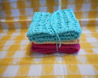 Kitchen Dishcloths Knitted  Set of 3