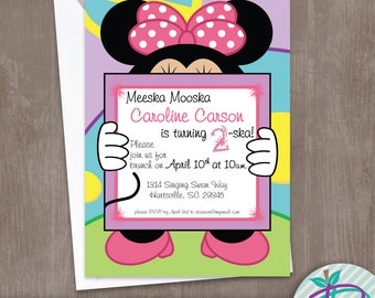 Minnie Mouse Invitation, Minnie Mouse Birthday Party Printable Invite