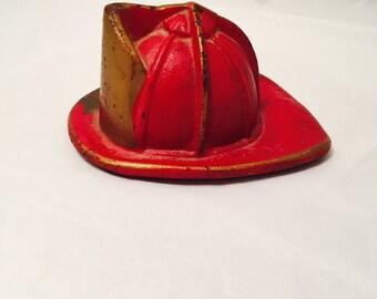 Firemen's Helmet Miniature Helmet Cast Iron Helmet Souvenir Paperweight