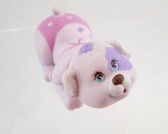 vintage 80s Puppy Surprise Bathtime Bath Fun Pink and Purple Squirting Squirt Pup