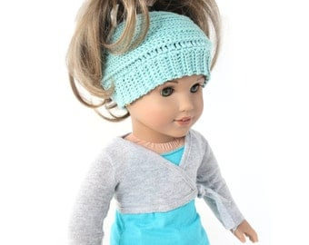 "Download Now - CROCHET PATTERN 18"" Doll Ponytail Hat"