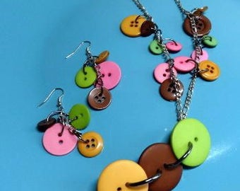 Buttons Everywhere Jewelry Set