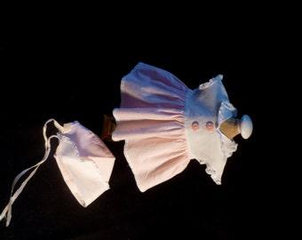 "Original  Factory Tiny Tears Baby Doll Dress & Bonnet for 15""  50's"