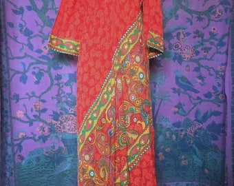 Vintage Neiman Marcus Tripped out Paisley Hostess Caftan