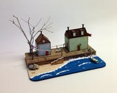 SMALL WOODEN SEASIDE Houses, Recycled Wood, Reclaimed Materials, Beach House