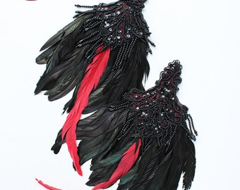 30% off Annual Birthday Sale Ready to Ship Miyu Decay Feather Epaulettes Fascinators