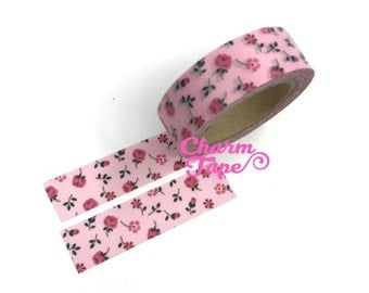 Pink Roses - Washi Tape 15mm x 10 meters WT829
