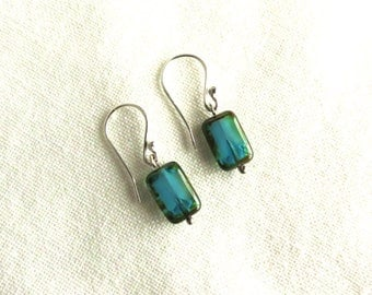 Teal Earrings, Turquoise Color, Dangle Earrings, Drop Earrings, Bohemian, Jewelry for Women, Gift Idea for Woman, Summer Earrings,