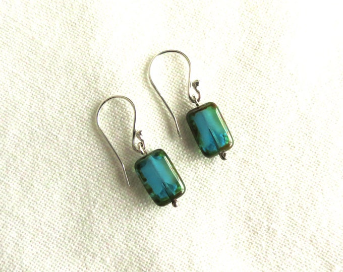 Teal Earrings, Turquoise Color, Dangle Earrings, Drop Earrings, Bohemian, Jewelry for Women, Gift Idea for Woman, Summer Earrings,