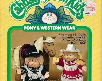 Cabbage Patch Kids Pony & Western Wear Patterns