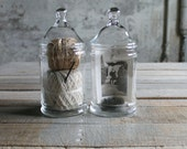 2 Vintage Apothecary Jars
