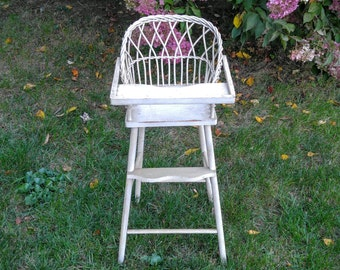 Vintage Wicker Baby Bassinet For A Shabby Chic By