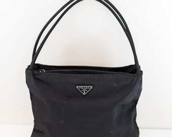 PRADA authentic black nylon shoulder tote - Italy purse bag