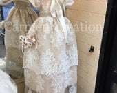 Florence Christening Gown Blush Pink