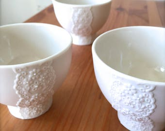 Lovely Porcelain Lace Bowl-Hideminy Lace Series