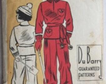 Vintage 1930s-1940s DuBarry Pattern 1308B Child's Snow Suit & Hat