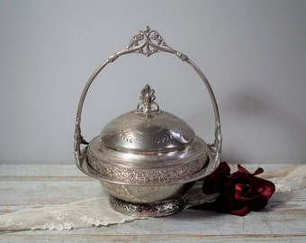 Silver Plate Covered Dish