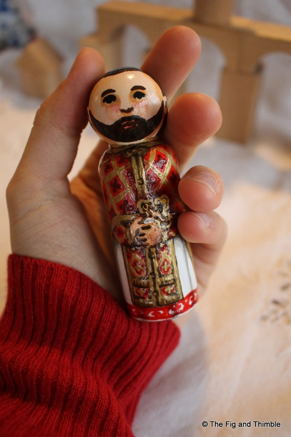 "Priest Peg Doll Byzantine Priest Large 3.5"" size"