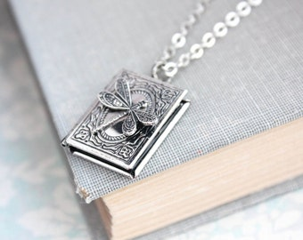 Book locket etsy aloadofball Gallery