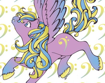 A4 Gloss Pony Prints - Choice - Clef, Arrow or Icy Pony