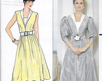 Butterick 4834 Richard Warren 70s Dress and Belt Sewing Pattern Size 12 Bust 34