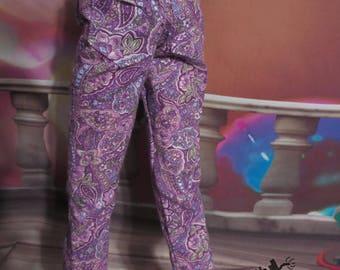 CLEARANCE - 70cm BJD SD16 Purple Paisley