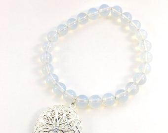 Moonstone essential oil diffuser bracelet