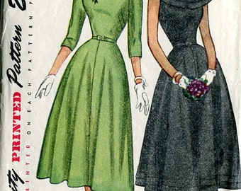 Simplicity 2325 Fitted Dress 1940s 1950s Sewing Pattern B33