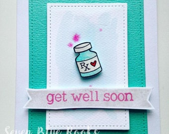 Get Well Soon card | Ideal for cheering up sick friends, family, workmates