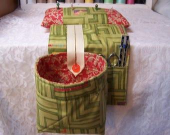 Scrap Bag Pincushion Organizer - Scrap Bag Organizer - Scrap Bag - Thread Catcher - Snippets Basket - Quilters Gift - Sewing Gift