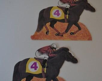 Horse Racing Ephemera Scrapbooking Cards